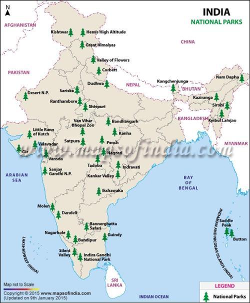 Les parcs nationaux en Inde