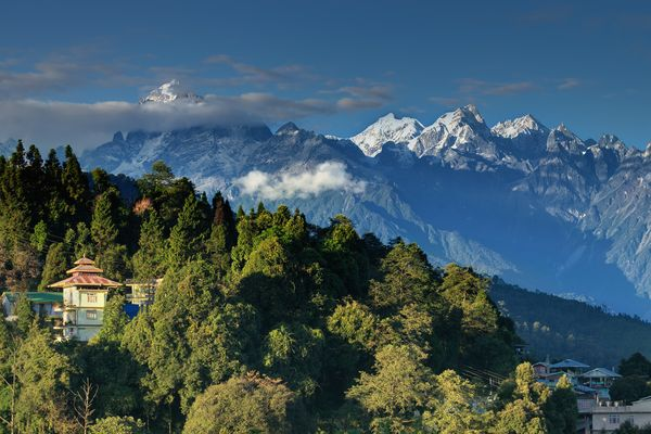 Montagnes himalayennes depuis Ravangla