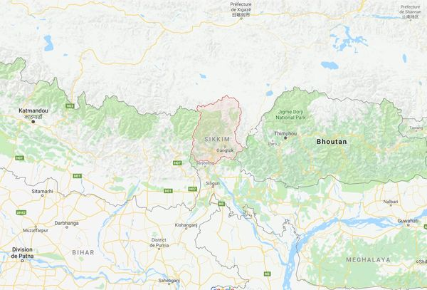 Carte large du Sikkim